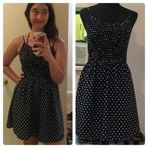 Xhilaration Smocked Polka Dot Dress
